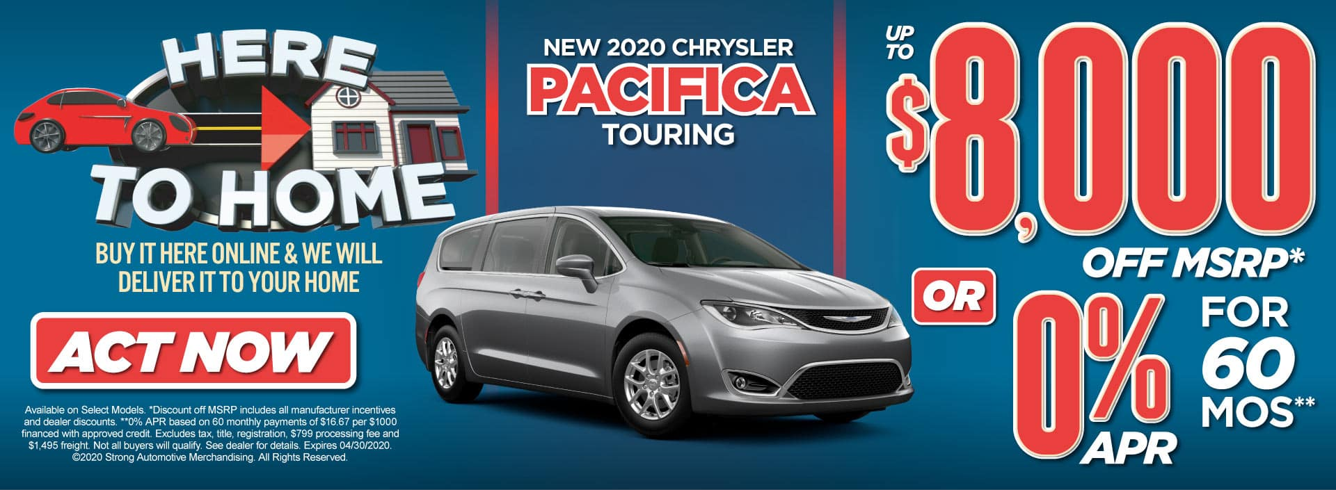 New 2020 Chrysler Pacifica Special Act Now
