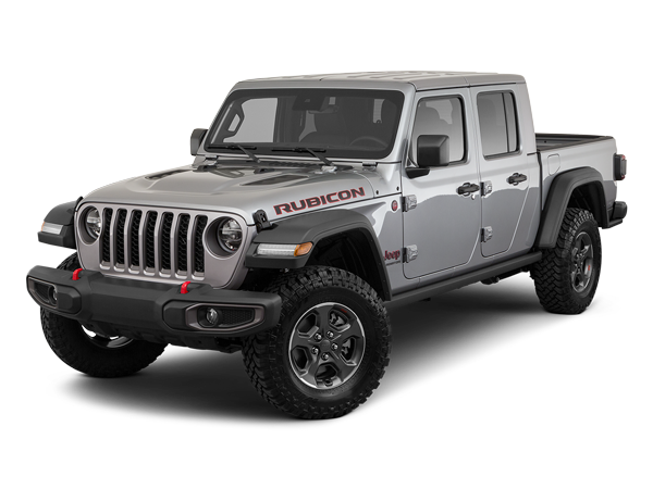 A gray 2020 Jeep Gladiator, a new truck by Jeep.