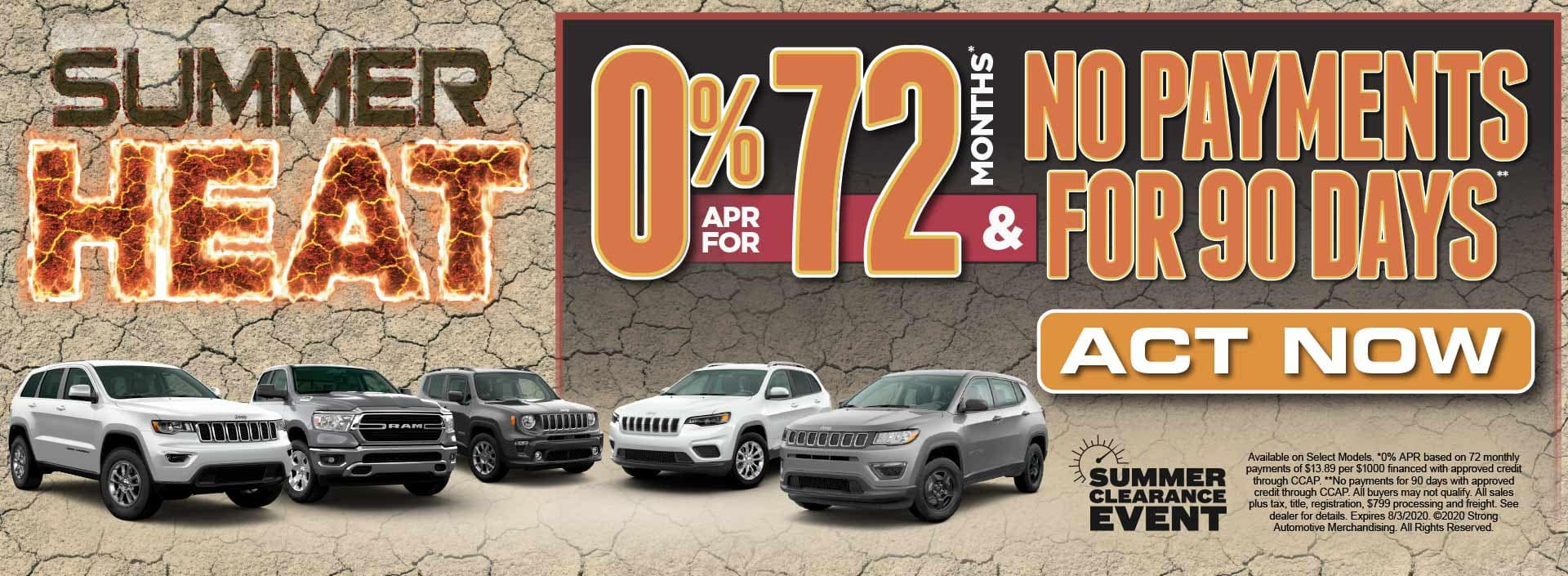 0% APR for 72 Mos* & No Payments for 90 Days** Act Now