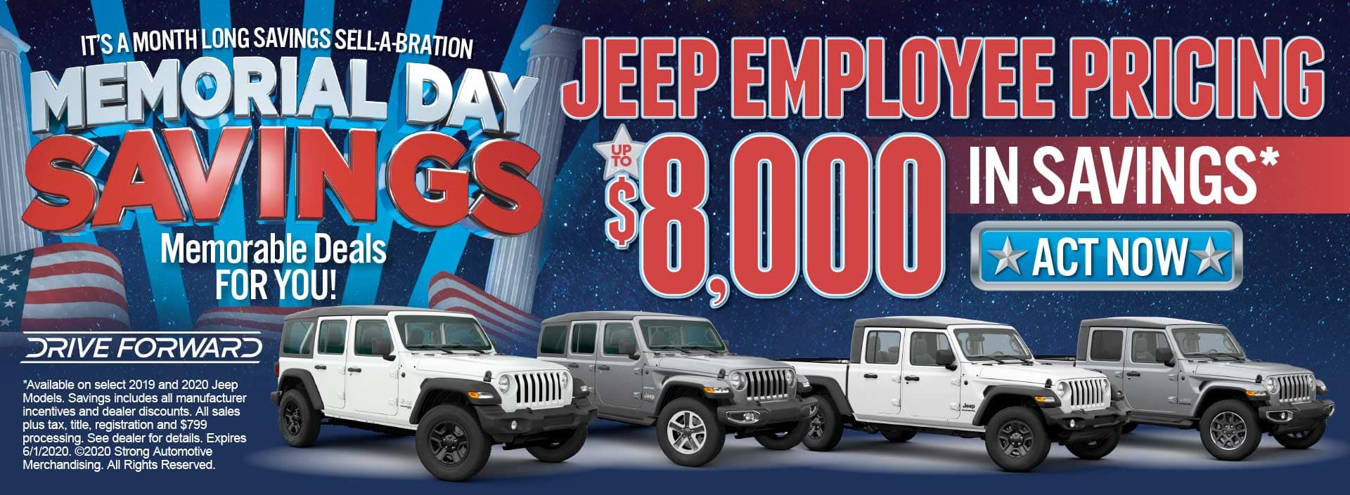 Jeep employee pricing up to $8000 in savings act now