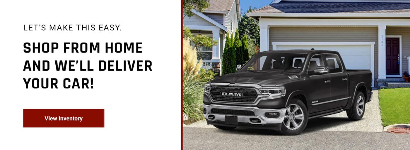 Shop from Home and We'll Deliver your Car