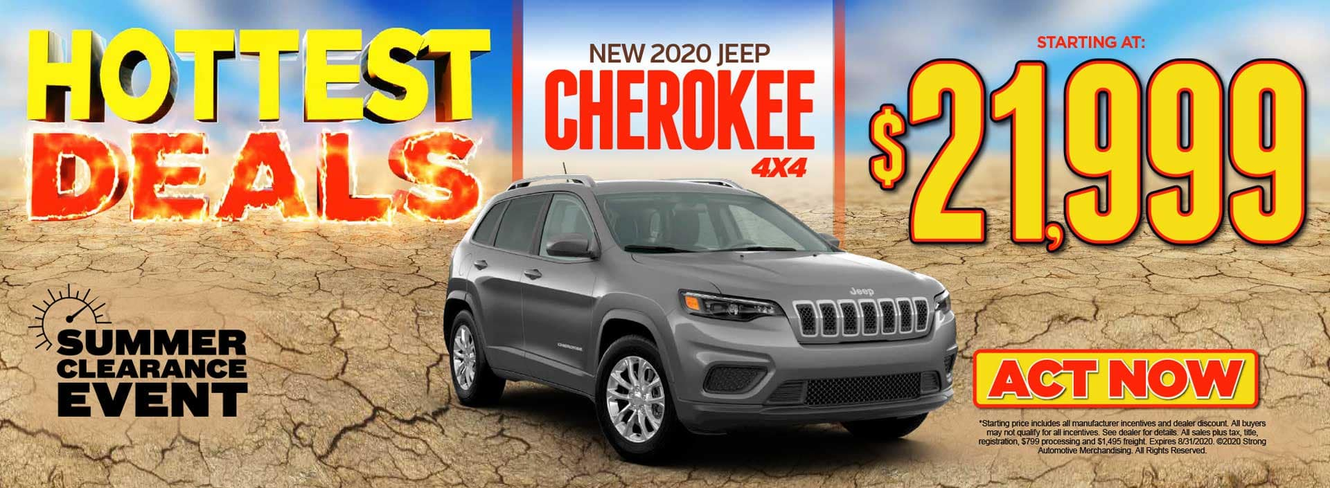 2020 JEEP CHEROKEE 4X4 – STARTING AT $21,999 ACT NOW