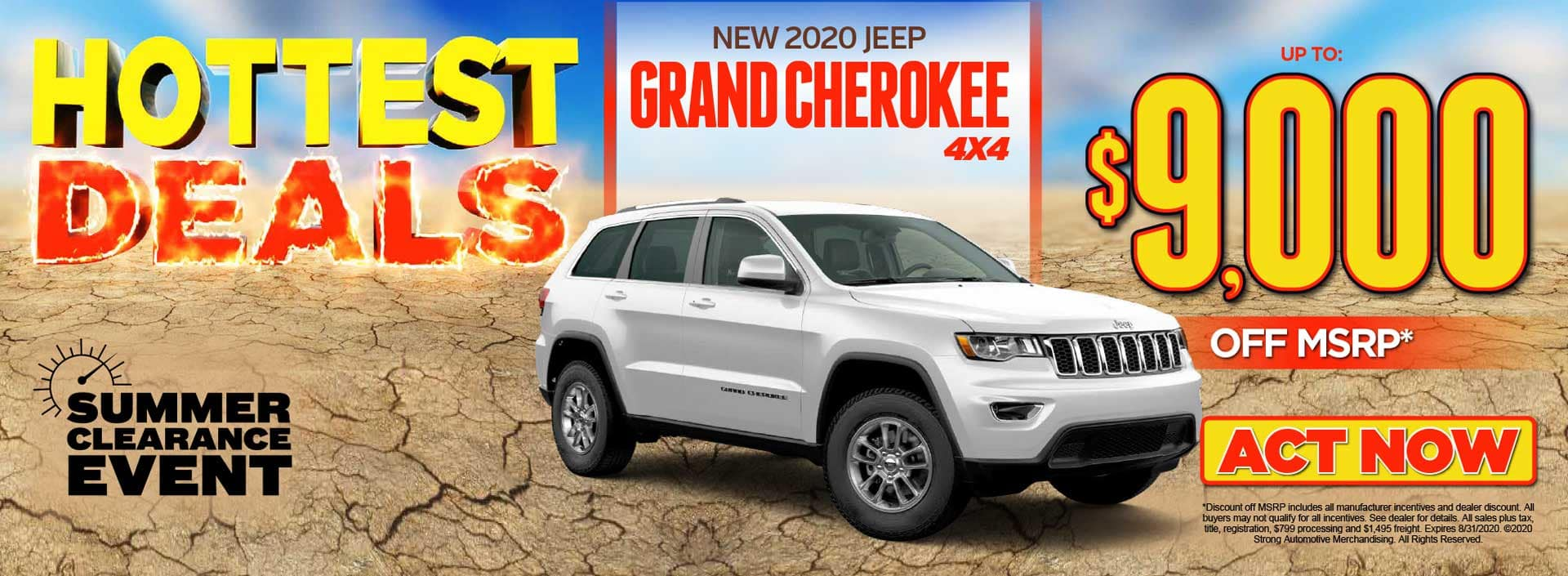 2020 JEEP GRAND CHEROKEE 4X4 – Up to $9,000 Off MSRP ACT NOW