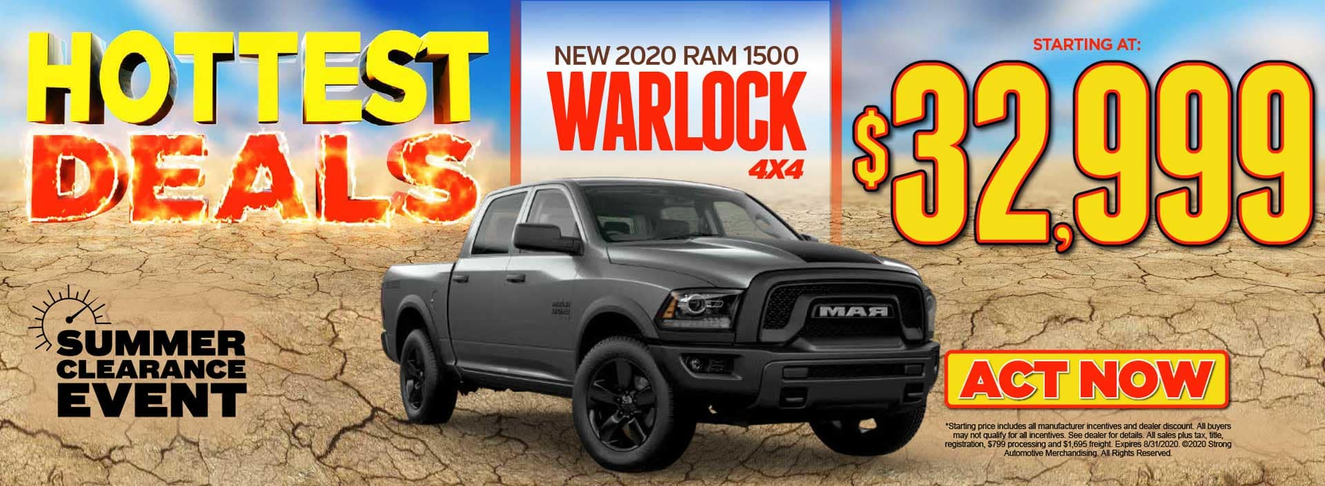 New 2020 Ram 1500 Warlock Starting at $32,999* Act Now