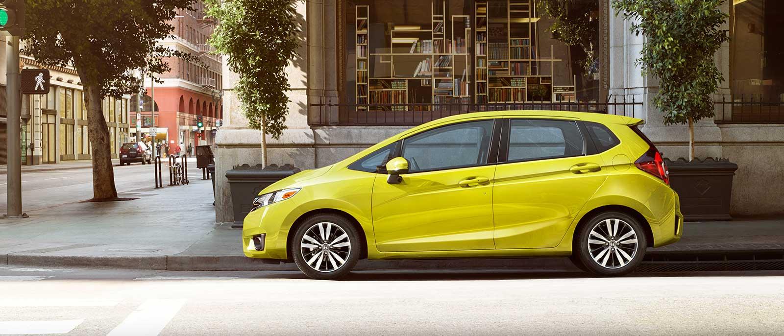 2017 Honda Fit profile in yellow