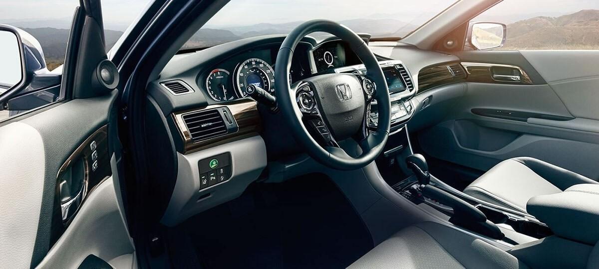 2017 Honda Accord Sedan Touring Grey Interior