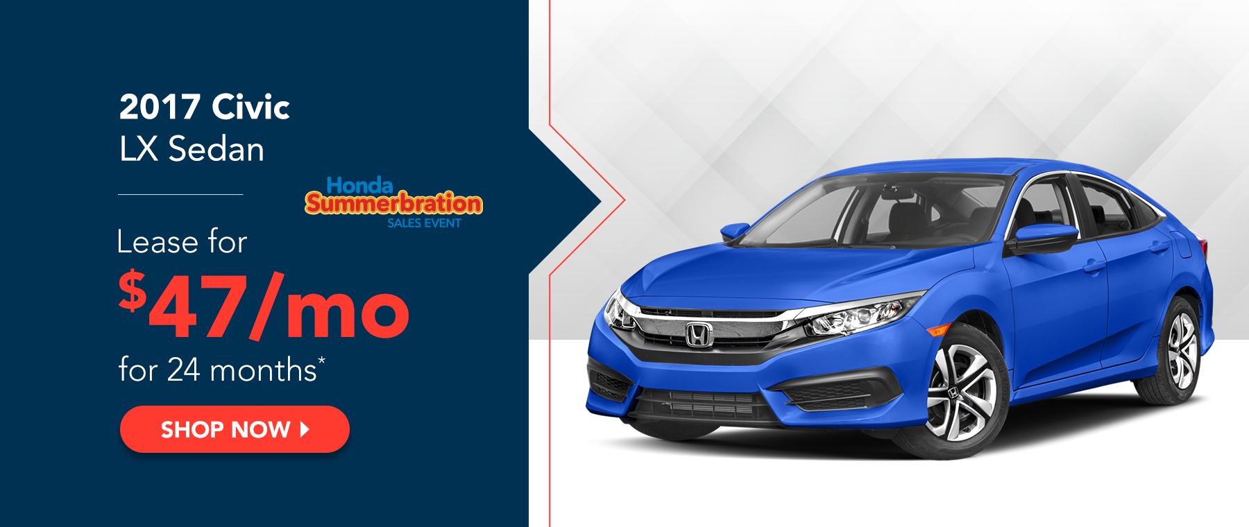 2017 Civic LX Sedan - Honda Summerbration Sales Event