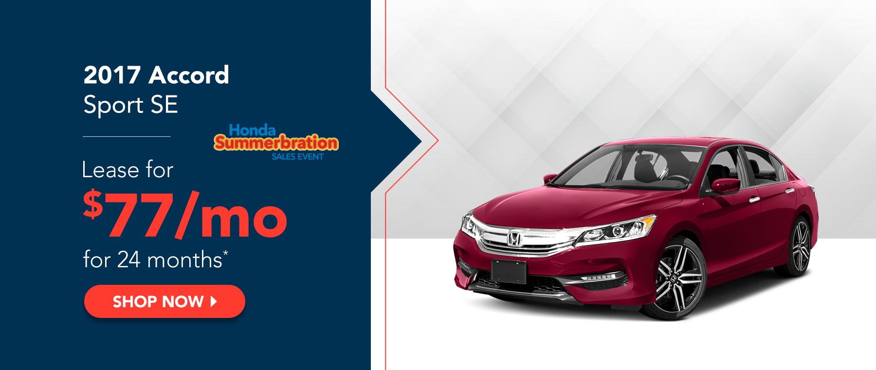 2017 Honda Accord Sport SE - Honda Summerbration Sales Event