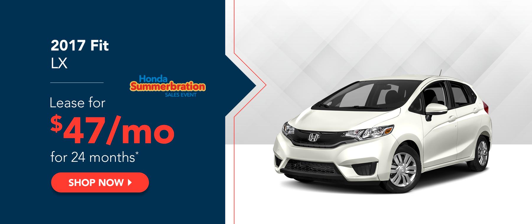 2017 Fit LX - Honda Summerbration Sales Event
