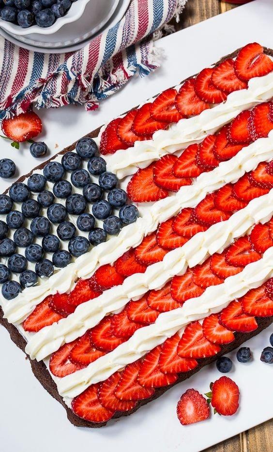 Brownie Flag Dessert