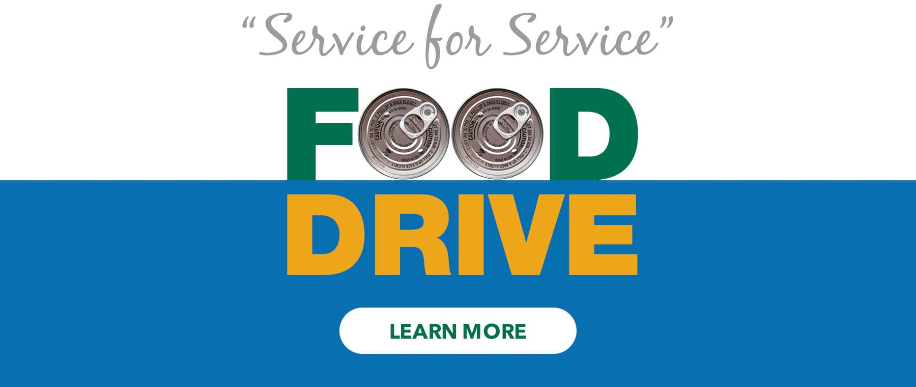 Service for Service Food Drive