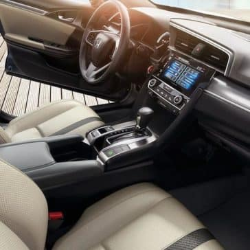 2018 Honda Civic Sedan Touring Tan Interior