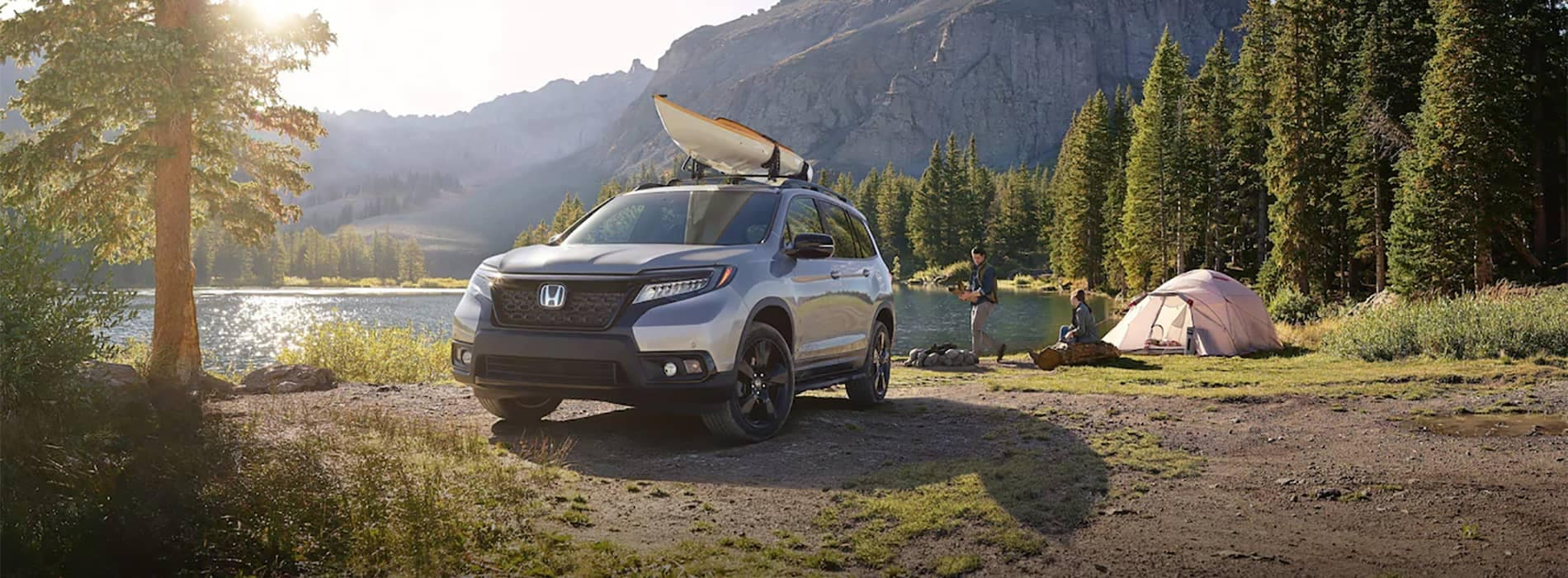 2019 Honda Passport Parked at Camping Site