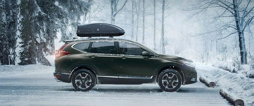 2019 Honda CR V Parked in Snow