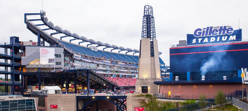 Exterior shot of Gillette stadium