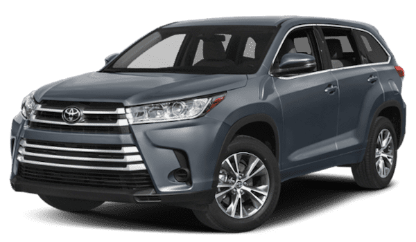 Blue 2019 Toyota Highlander
