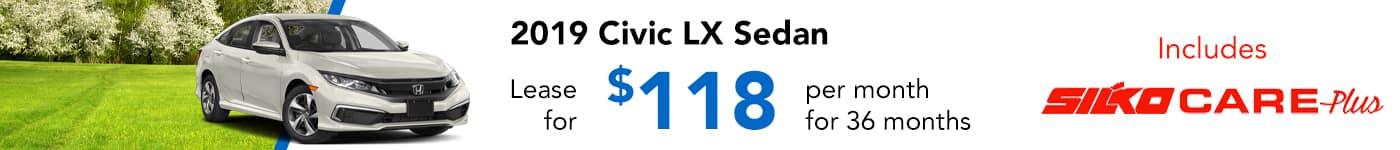 Silko Honda Civic Lease Special