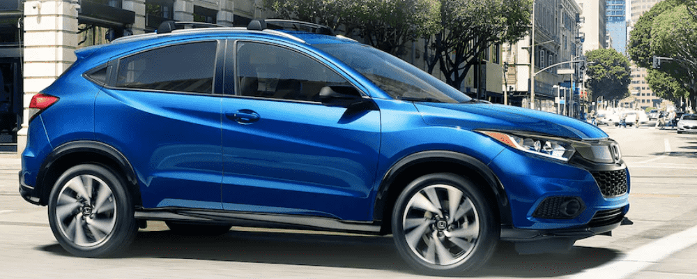 Blue Honda HR-V