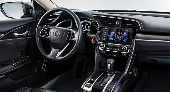 2020 Honda Civic Interior Dashboard and Steering Wheel Features