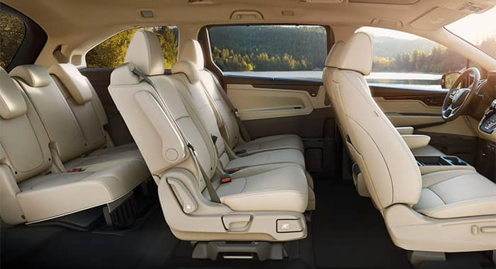 Honda Odyssey Interior Seating Side View