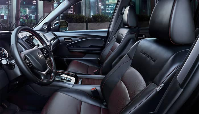 Honda Pilot Interior Front Seating and Storage Features