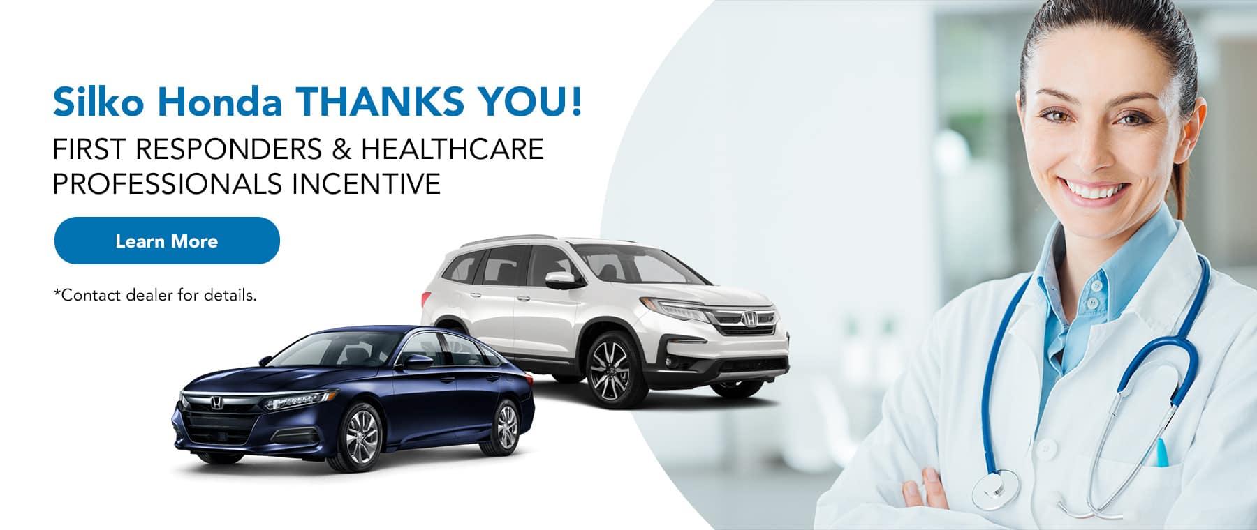 Silko Honda First Responder Incentive