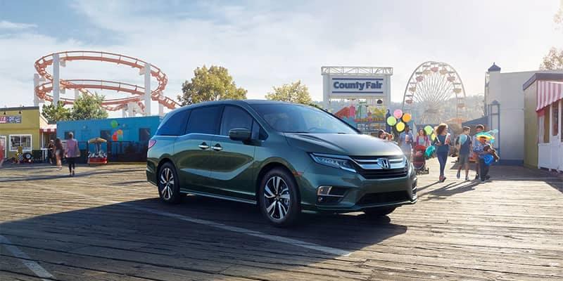 Honda Odyssey Parked at Theme Park