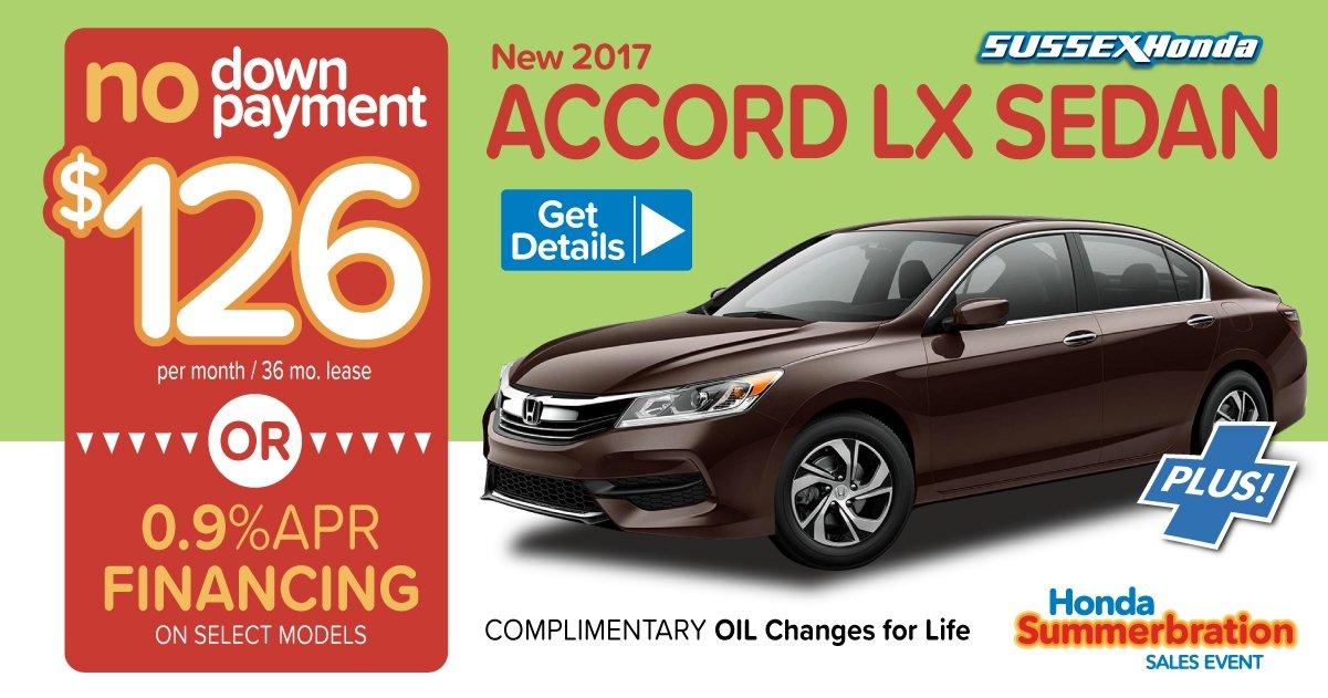 Honda lease specials sussex honda for Honda zero down lease