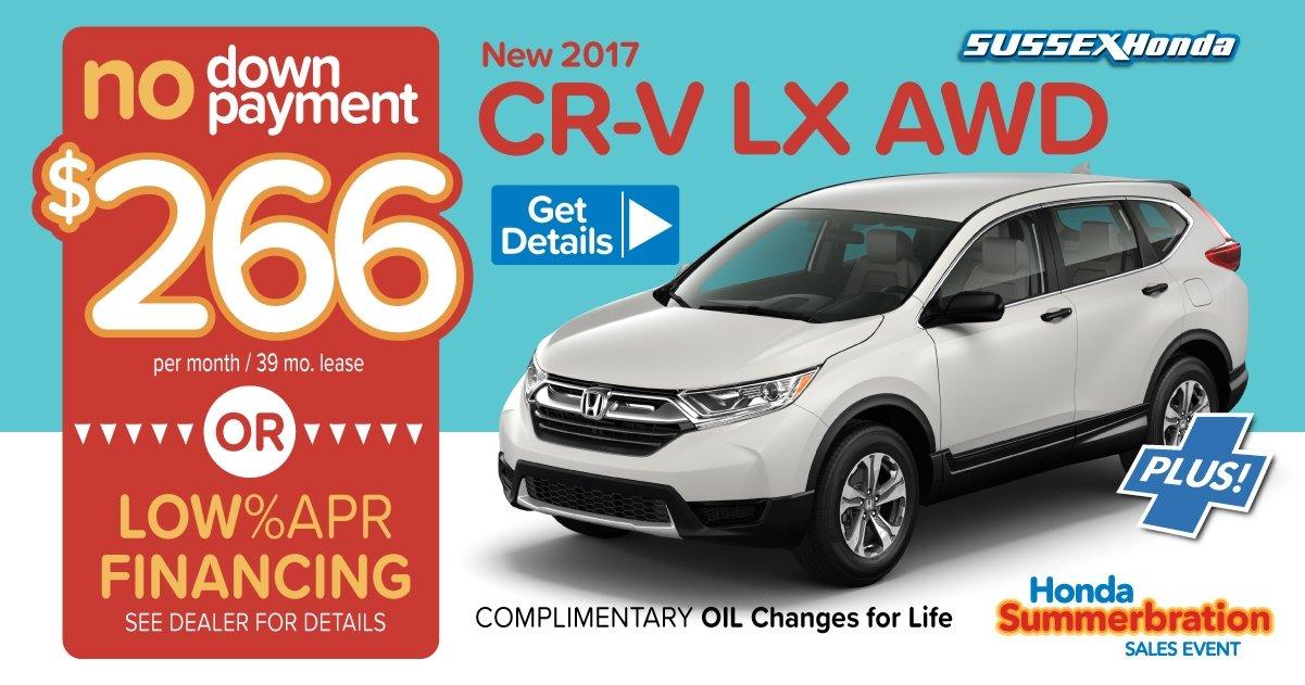 2017 cr v lease specials sussex honda for Honda cr v lease