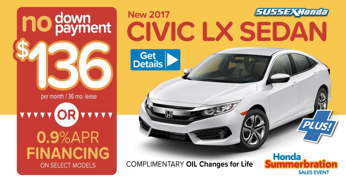 Honda lease specials sussex honda for Honda lease payment