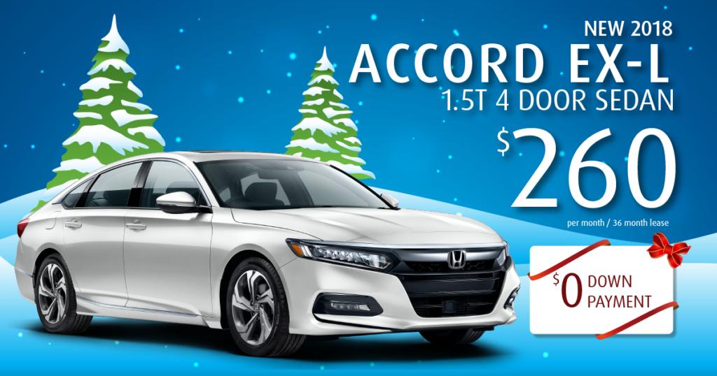 New 2018 Honda Accord EX-L 1.5T
