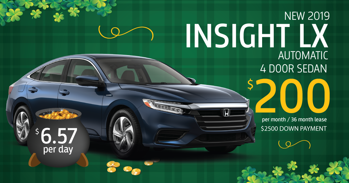 Car Leases Under 200 >> 2019 Insight Lx Auto Lease Special Sussex Honda