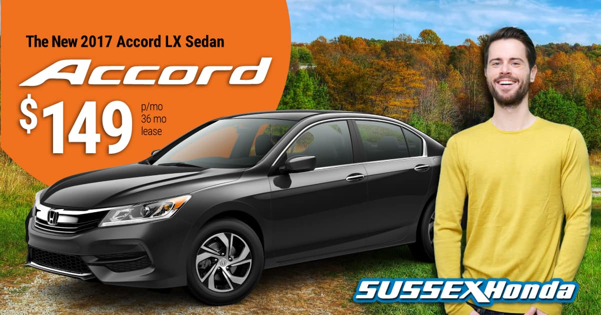 2017 accord lx auto lease specials sussex honda for 2017 honda accord lease price