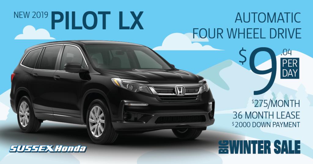 New 2019 Honda Pilot LX 4WD