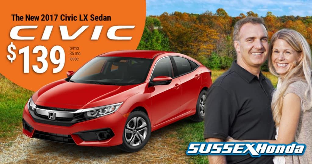 New 2017 Honda Civic LX AUTO for $139 p/m