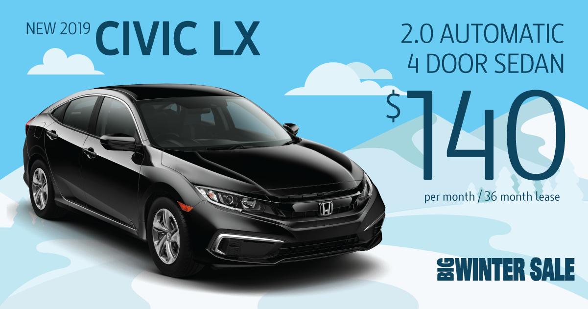 2019 Civic LX Auto Lease Special | Sussex Honda