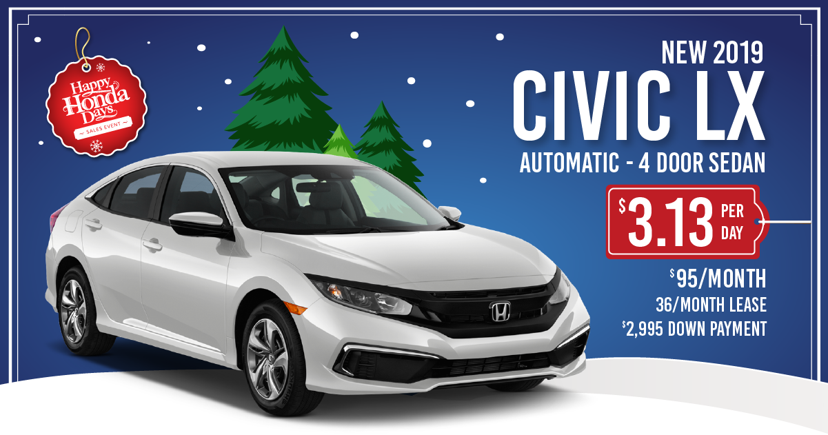 2019 Civic Sport Lease Special Sussex Honda