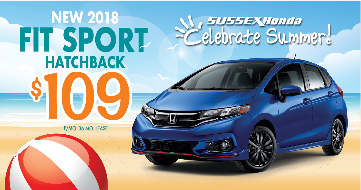 2018 fit sport lease special sussex honda for Honda fit lease price