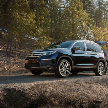 2018 Honda Pilot on wooded road