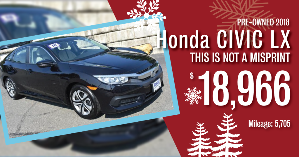 Certified Pre-Owned 2018 Civic LX