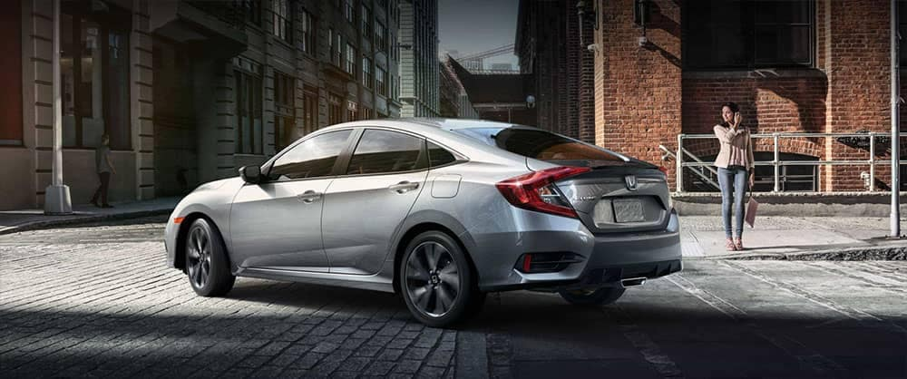 2019 Honda Civic Sedan Parked in an Alley