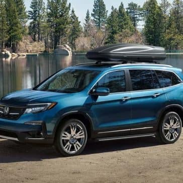 2019 Honda Pilot Parked by Lake