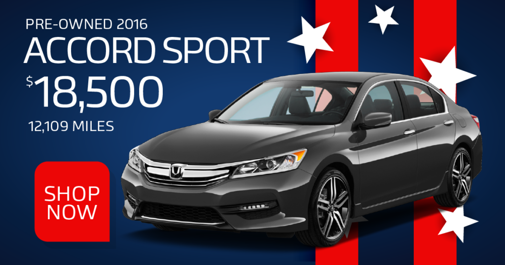 Certified Pre-Owned 2016 Accord Sport