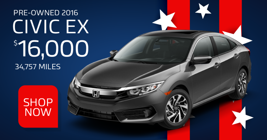 Certified Pre-Owned 2016 Civic EX