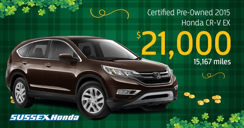 Certified Pre-Owned 2015 CR-V EX