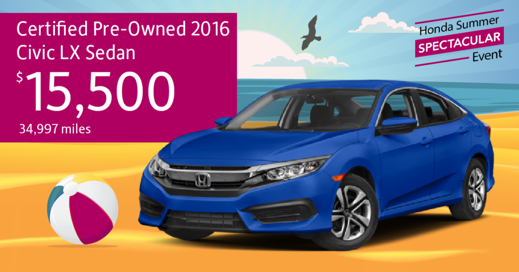 Certified Pre-Owned 2016 Civic LX