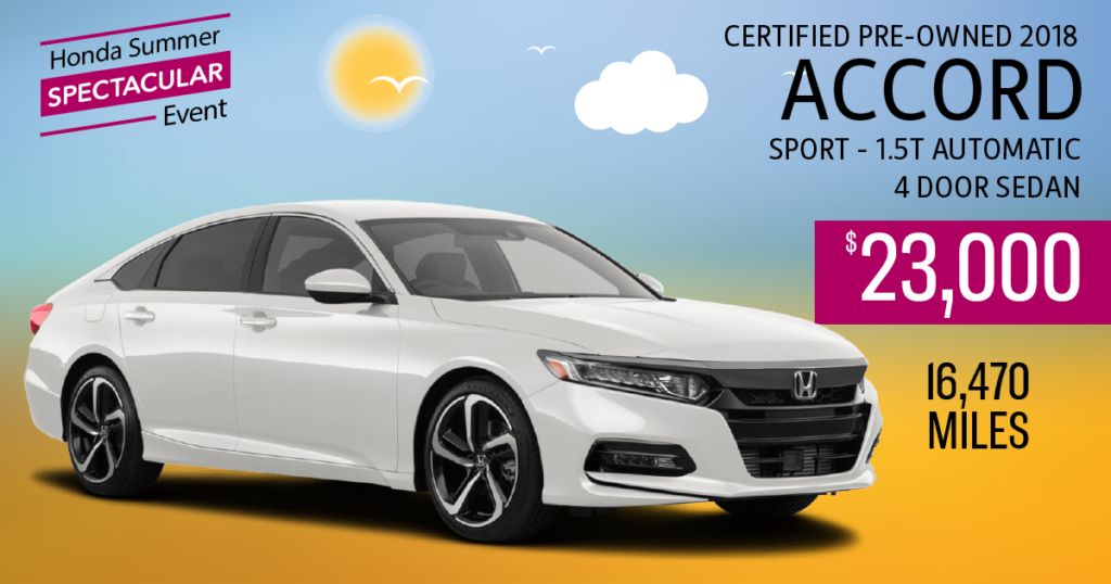 Certified Pre-Owned 2018 Accord Sport