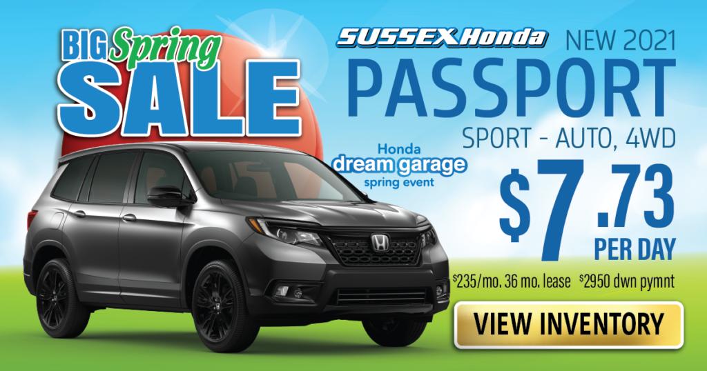 New 2021 Honda Passport Sport