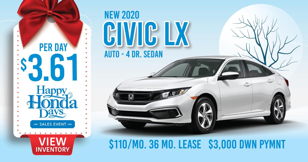 2020 Civic Lx Lease Special Sussex Honda