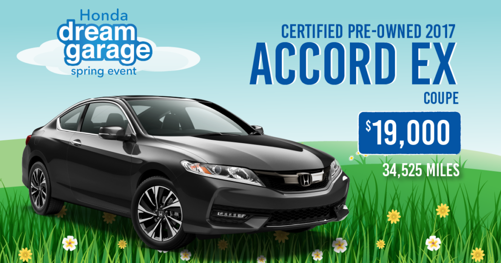Certified Pre-Owned 2017 Honda Accord EX Coupe